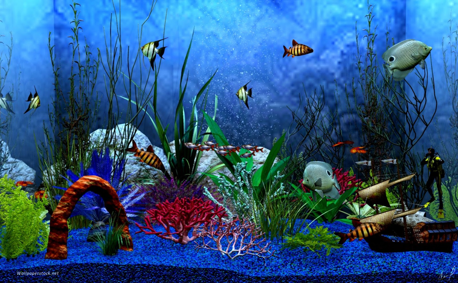 Aquarium background windows 7 animated aquarium for Desktop fish tank