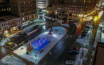 Horizon Aerial Media Catches Public Square During the Holidays