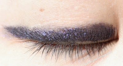 Mizon purple eyeliner in sunlight