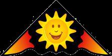 "Layang-layang motif ""smily sun"""