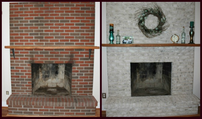 Fireplace decorating painting brick fireplace ideas for for Bricks painting design