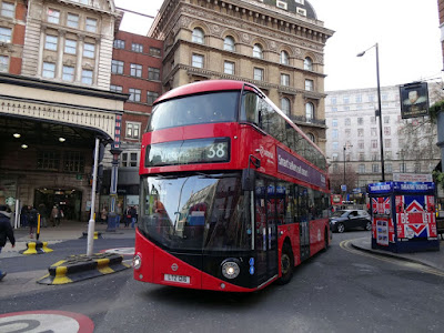A New Bus For London on service 38 at Victoria Bus Station