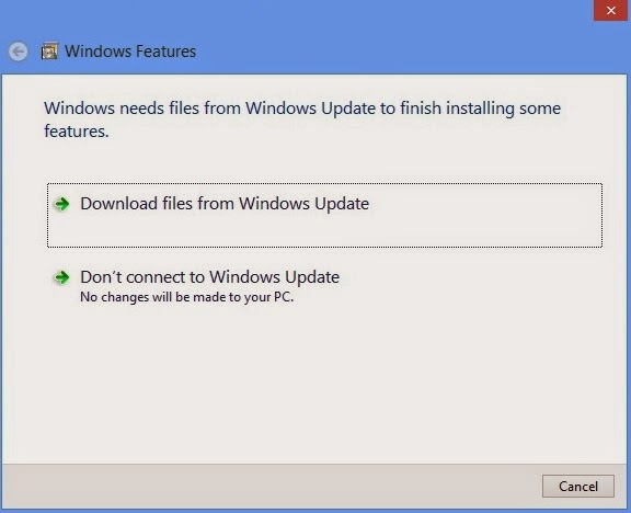 How To Enable .Net Framework On Windows 8/8.1