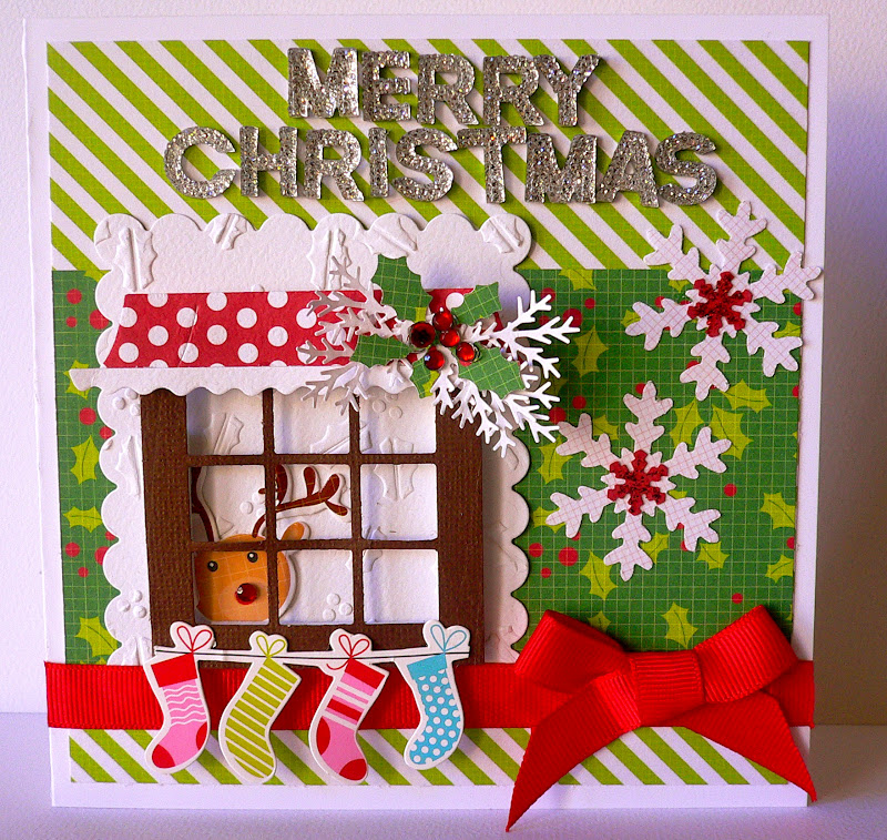first some cards with mint twist paper collections - Mint Christmas Cards