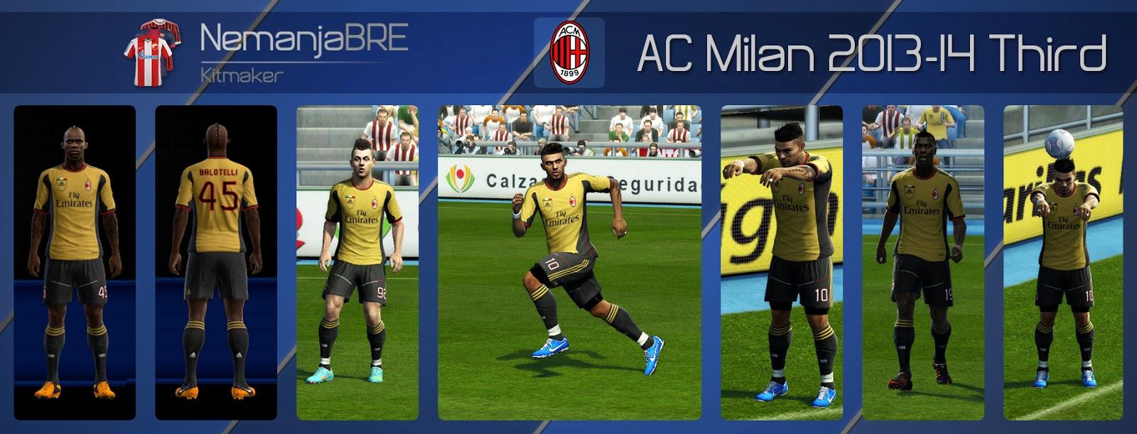 A.C Milan Kit Third - PES 2013