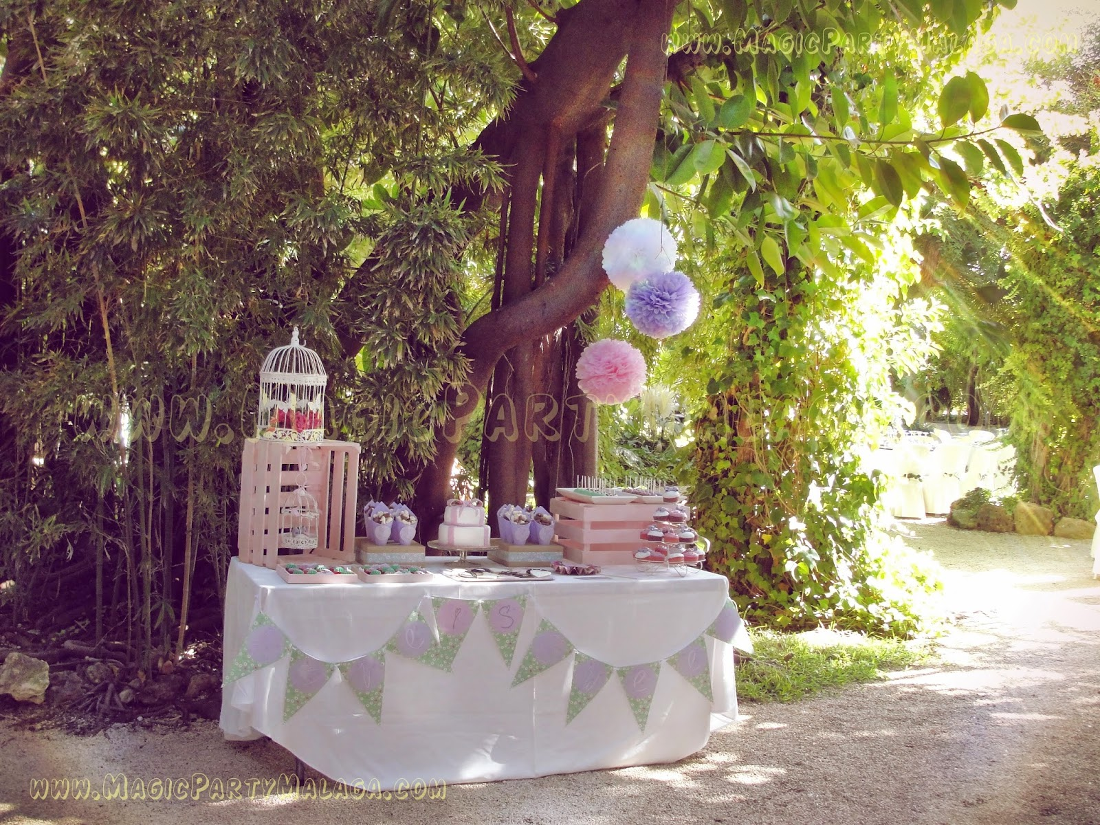 Magic party boda d m mesa dulce campestre vintage - Estilo en rosa ...