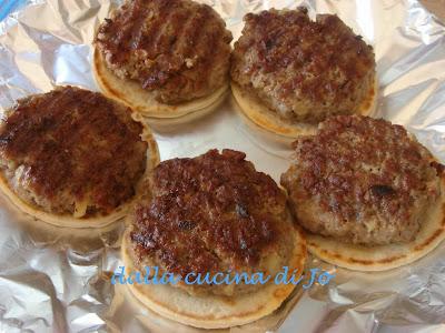 hamburger di macinato e patate