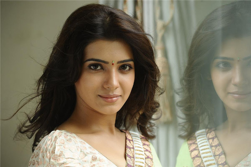 Telugu Lovely Actress Samantha Exclusive Cute Saree Stills wallpapers