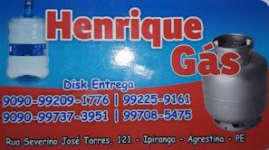 HENRIQUE GÁS E ÁGUA MINERAL