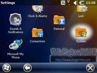 Cara mengaktifkan Fitur ClearType di Sony Ericsson Aspen