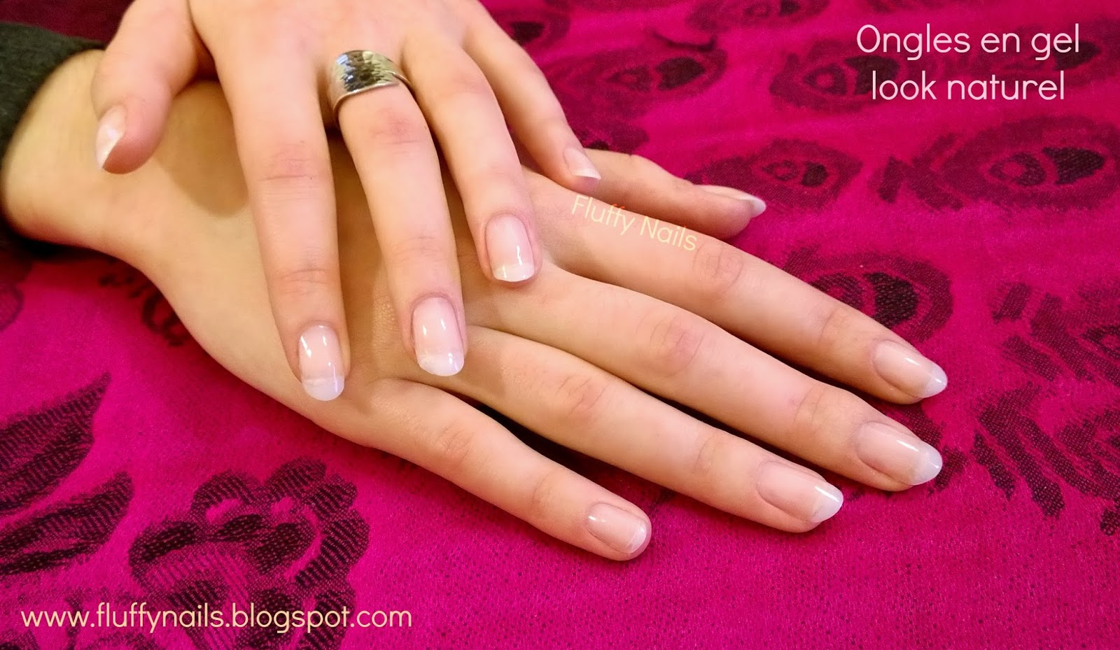Ongles en gel rallongement capsule look naturel