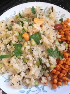Rice Rava Upma/Akki Tari Uppittu