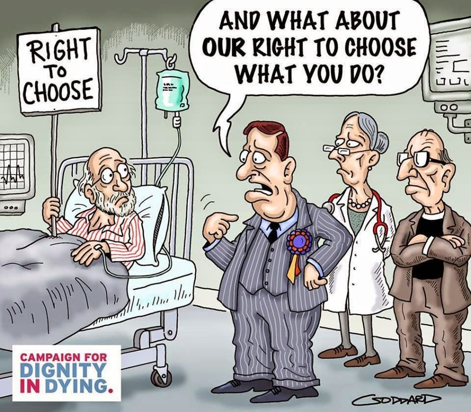 And what about our right to choose what you do? (Campaign for Dignity in Dying)