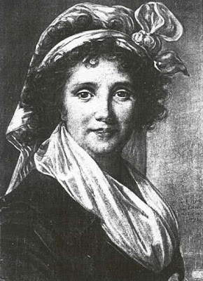 Drawing of Marguerite de Gourbillon