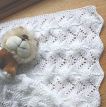 Reversible Lace Baby Blanket