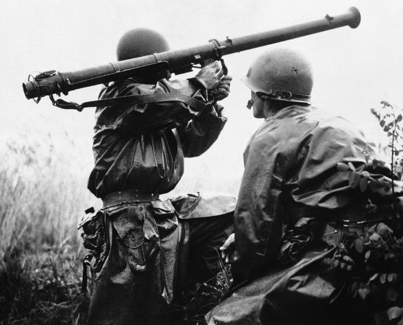 Bazooka, US soldiers, WW2, Korean War, RPG, anti-tank weapon
