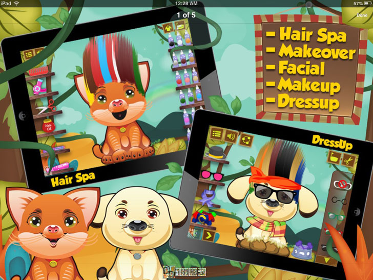 Pet Salon: Hair Spa,Makeover,Facial,Makeup & Dressup App iTunes App By Sunny Sungtani - FreeApps.ws