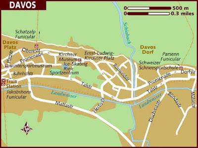 Davos Mappa della città