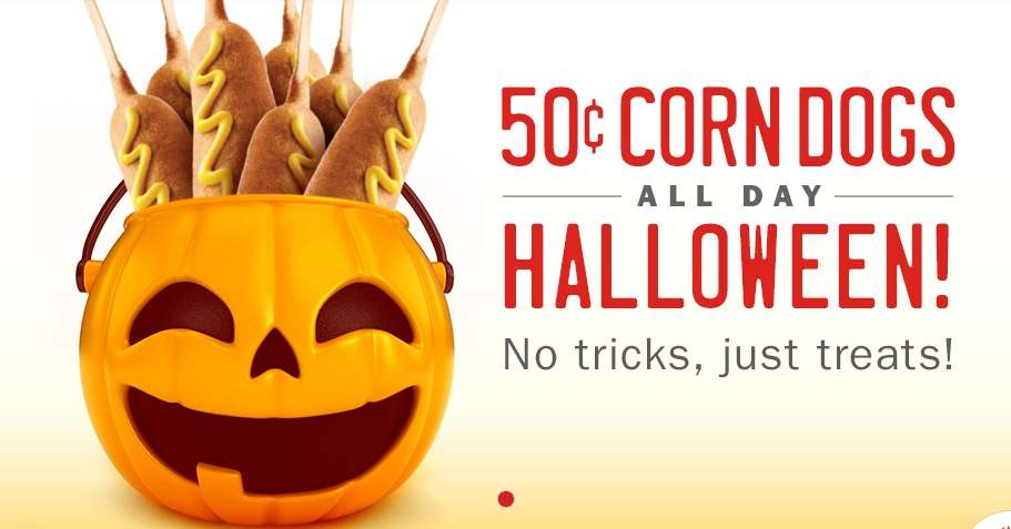 50 cent corndog day at Sonic Halloween 2014