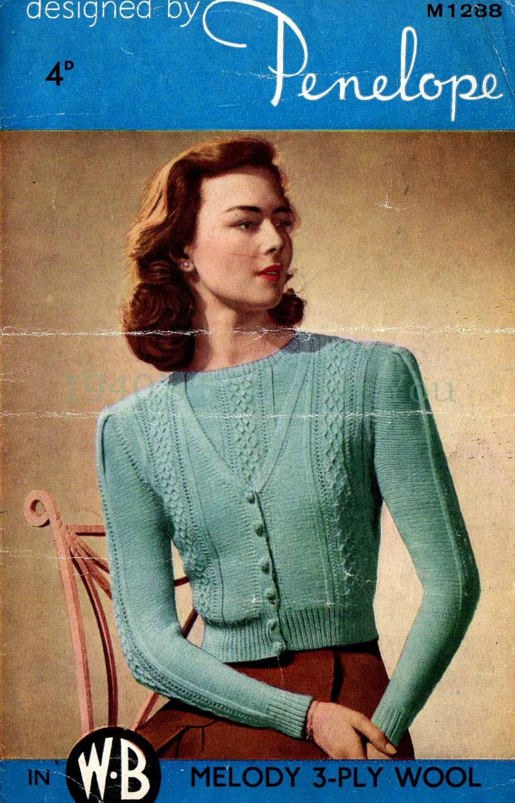 Wartime Knitting Patterns : 1940s Style For You: Free Knitting Pattern - 1940s wartime twinset ...