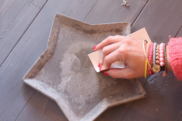 DIY estrella en cemento. Navidad (www.soyunmix.com)