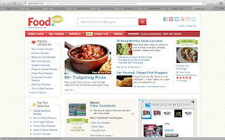 Screenshot of Food.com