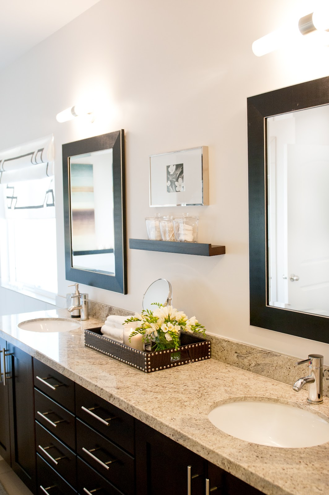 Ashley winn design before after master bedroom for Master bathroom mirror designs