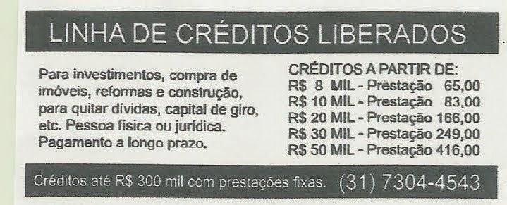 FAÇA O SEU EMPRÉSTIMO !!! CONSULTE O TELEFONE 031.7304.4543