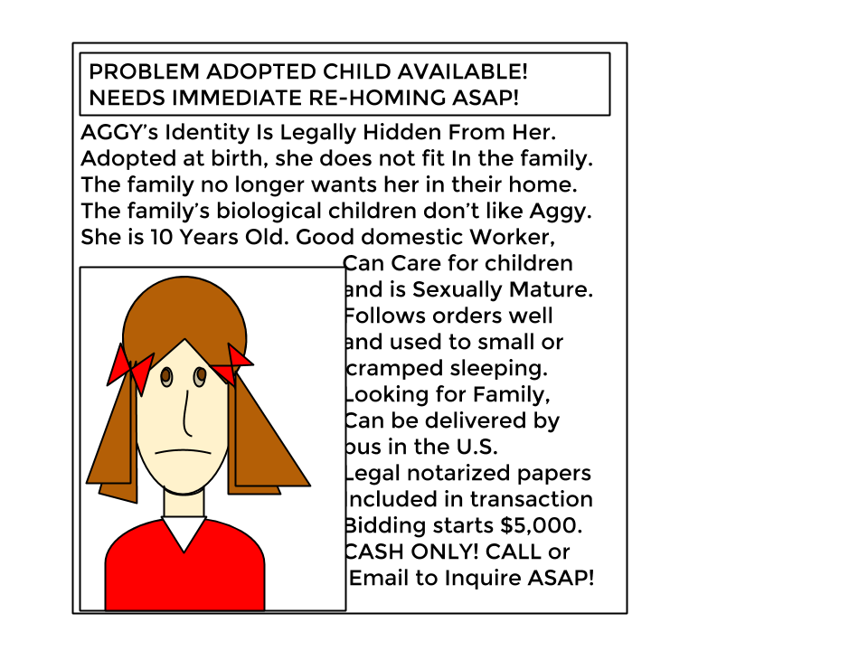"""Re-Home"" Adopted Child Needed!"