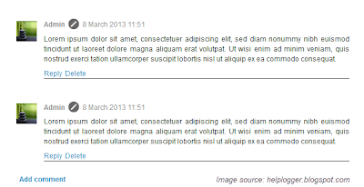 customize comments, blogger