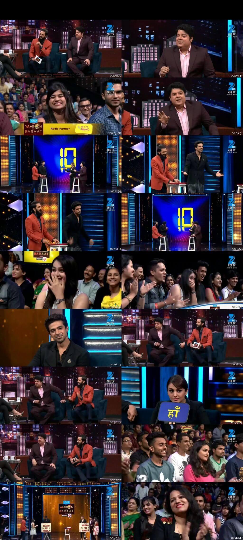 Screenshots Of Hindi Show Yaaron Ki Baraat 3rd December 2016 Episode 17 300MB 480P HD