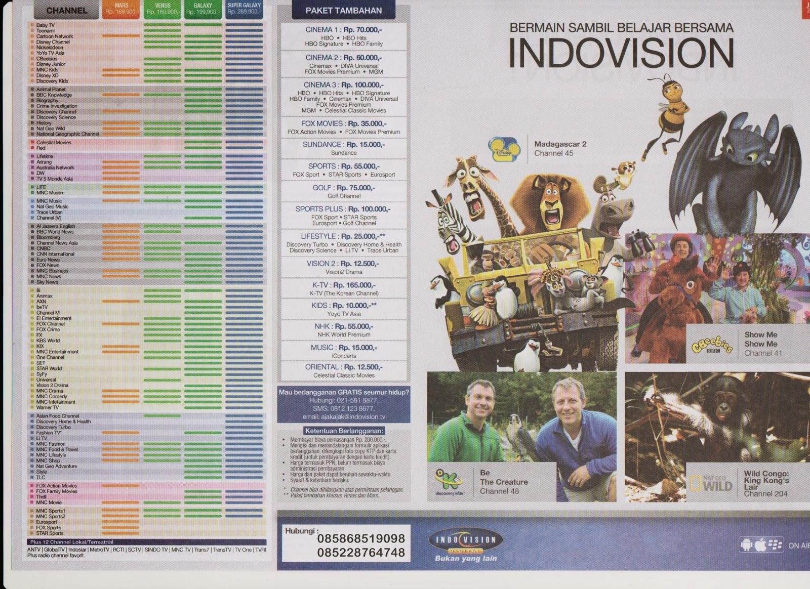 Promo tv berlangganan indovision okevision toptv bulan maret 2013