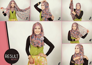 Tutorial Hijab Pashmina Casual Terkini