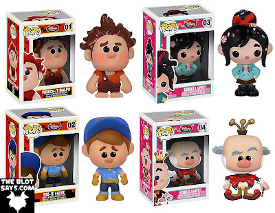 Wreck-It Ralph Pop! Disney Vinyl Figures by Funko - Wreck-It Ralph, Vanellope, Fix-it Felix & King Candy