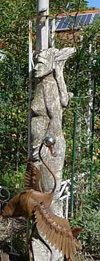 Ceres, Dennis's wood carving