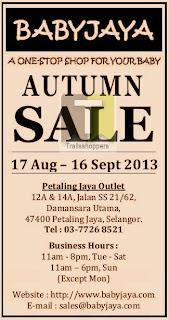BabyJaya Autumn Sale 2013