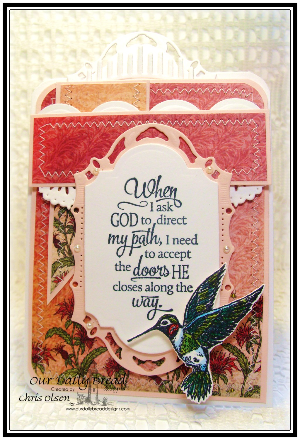 Stamps - Our Daily Bread Designs Sentiment Collection 3, Hummingbird, ODBD Blooming Garden Paper Collection, ODBD Custom Hummingbird Die, ODBD Custom Beautiful Borders Dies