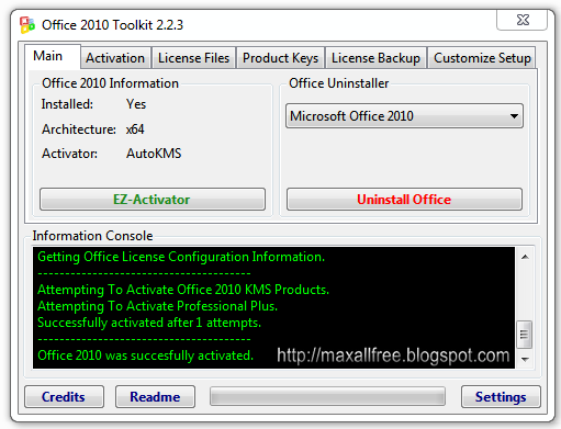 office 2010 toolkit and ez activator
