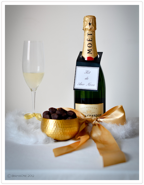 Happy New Year with champagne and chocolate truffles from BistrotChic