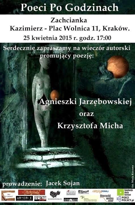 Wieczór autorski Agnieszki i Krzysztofa w Krakowie.