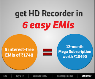 Airtel Digital TV HD Now Buy in Easy EMI Offer