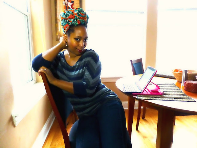 African wax print turban