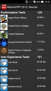 zenfone 2max bechmark dengan Mobile XPRT 2013