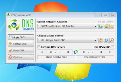 DNS Jumper v2.0, Apkikasi Pengganti DNS Jaringan