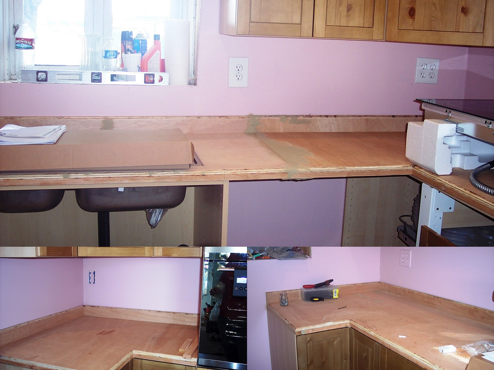 We found this product called Giani Granite Countertop Paint.