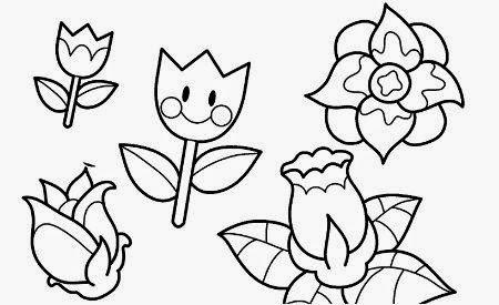 Dibujos para colorear. Maestra de Infantil y Primaria.: Flores para ...