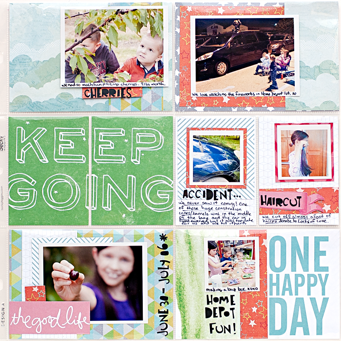 Heather Greenwood | Project Life 2014 - Week 27 using Studio Calico kit