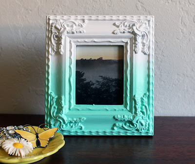 diy painted ombre photo frame - vitamini handmade