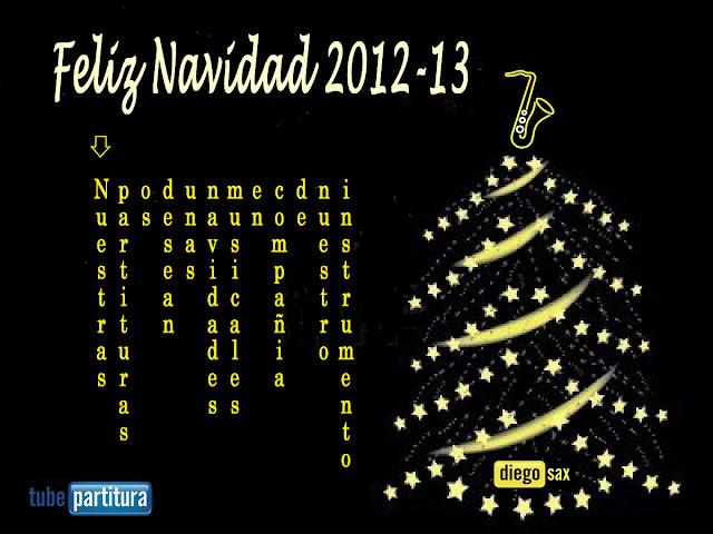 Feliz Navidad 2012-13 desde Nuestro Proyecto 1000 Partituras para tú instrumento