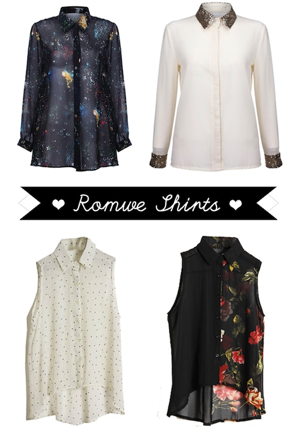 In love with... Romwe Shirts